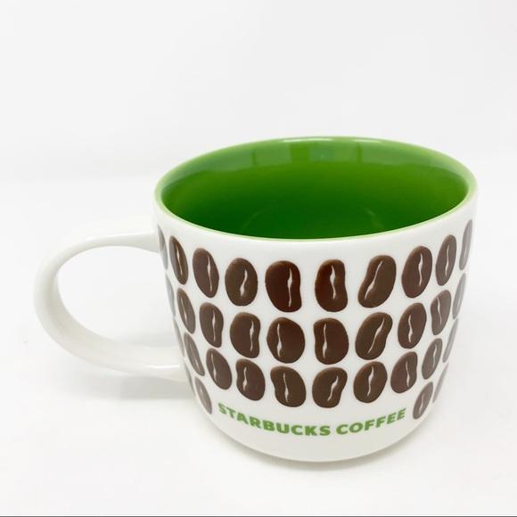 Starbucks Coffee Bean Mug 2009 Bone China 12oz